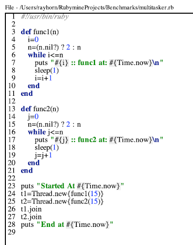 Ruby 1.8.7 does NOT use Real OS Threads but Python does !!!  Proof !!! (1/2)